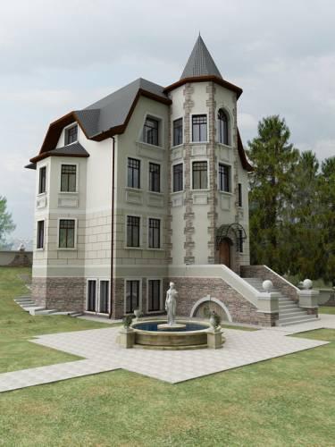 Дизайн фасада загородного